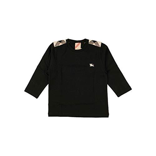 BURBERRY Langarmshirt mit Schultereinsätzen - schwarz, Größe:6 Monate / 68