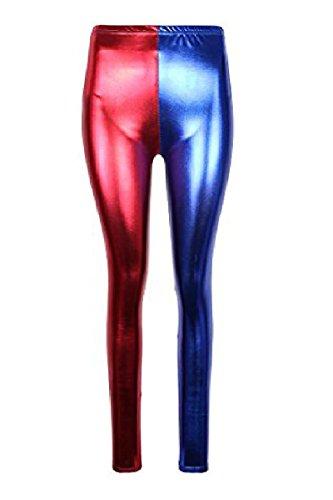 JanisramoneNeue Damen Harley Quinn Kostüm Suicide Squad Metallisch -