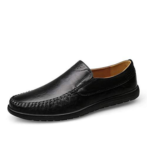 Mocassini uomo ufficio quattro stagioni pelle casual scarpe,nero 43 eu