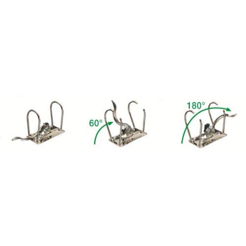 Leitz 11160089 Multifunktions-Ordner (A4, Abgerundeter Rücken 8,2 cm Breite, Gummibandverschluss, Kunststoff, Active Urban Chic) dunkelgrau - 13