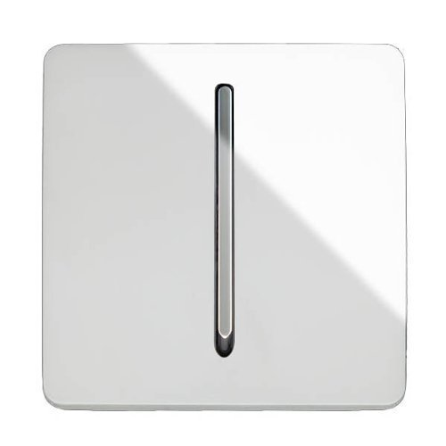Trendi Étendoir commutateur 1gang 2Way artistique moderne brillant 10A Interrupteur Blanc