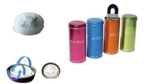 Pad Dosen Metallic Super Farben NEU MIT FRISCHE PAD sorgt für optimales Aroma und mit Padheber 4...
