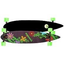 Paradise Longboard Skateboard Flowers Pintail 43x9 inch