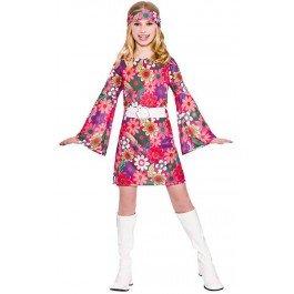 Retro girls go up girl costume party halloween fancy dress costume '60 per bambino 5-7 anni