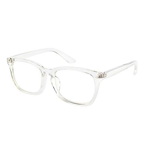 Cyxus Blaulichtfilter Computerbrille zur Blockierung von UV-Kopfschmerz [Augenbelastung reduzieren] Transparentes Objektiv, Unisex (Herren/Damen) (Kristall Rahmen)