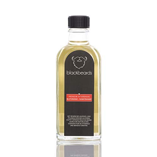 blackbeards After Shave Blutorange-Sumatraharz – Rasierwasser für Männer – Beruhigt die Haut nach der Rasur – Mit Bio-Alkohol – Hergestellt in Deutschland ()