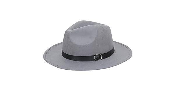 Zottom Donne Crushable Feltro Outback Cappello Panama Cappello Largo Tesa con Cintura