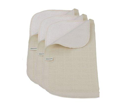 Verde fibras Juego 3algodón orgánico toalla cara