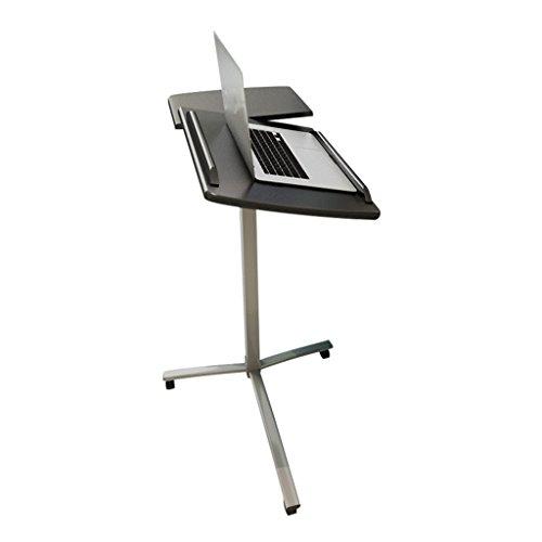 GFL Ajustable/se Puede Mover a casa Laptop TableL68cm * W34.5cm * H85-138cm (Mínimo Ajustable 85cm-138cm Más Alto) Color Doble Opcional Soportes de Regazo (Color : Negro)