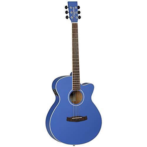 Tanglewood Trans unidades Guitarra Folk, color azul