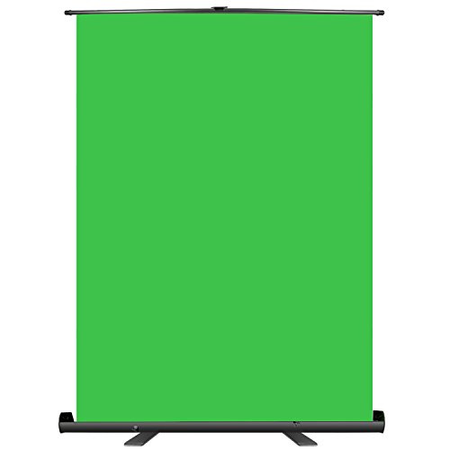 Neewer Grün Bildschirm Hintergrund Hochziehen Stil tragbarer zusammenklappbarer Chromakey-Hintergrund mit Auto-Lock-Rahmen faltenfestes Gewebe Fester Aluminiumfuß für Foto-Video