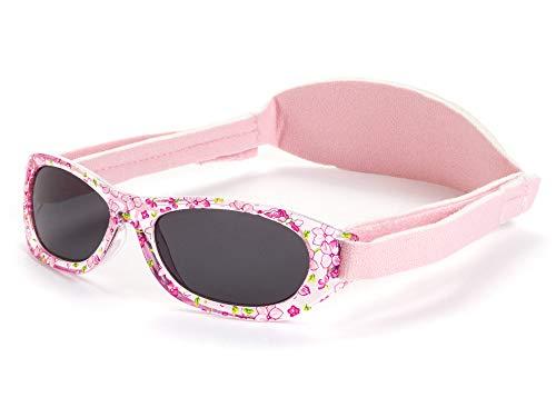 Kiddus Sonnenbrillen für Baby Kinder Jungen und Mädchen. 0 Monate bis 2 Jahren. UV400 SonnenSchutz. Unzerbrechliche Linsen. Mit Verstellbarem Gummiband. Nützliches Geschenk (KI30214)