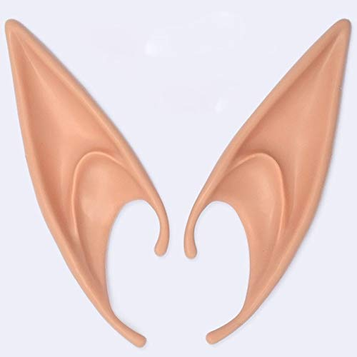 Fannty Latex Elf Ear Pixie Dress Up Kostüm weichen Spitzen Goblin Ohren Cosplay Halloween Party Requisiten (Kostüme Pixie Halloween Für)