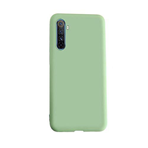 Henxunton Cover per Realme X2 Custodia, Silicone Liquido Cover Soffice Custodia Case Cover per Realme X2 Smartphone (Matcha Verde)