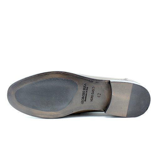 a6a2e7e9cee813 Shoes Rea Élégant Marron Main Classic Homme Oxford Mocassins Italiennes  Giorgio Mâle Chaussures Cuir Classique gdqOO