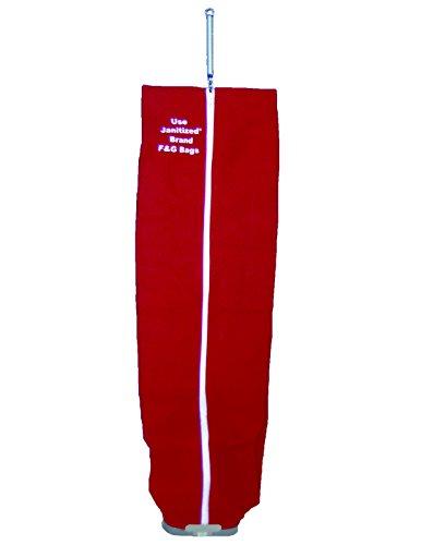 janitized jan-ivf168-cn-rd Premium Ersatz Kommerzielle Vakuum rot Baumwolle Filter für Eureka/Sanitaire aufrecht mit Schloss, Seite Laden, durchgehender Reißverschluss, OEM # 53506–1 (Eureka Staubsauger Mit Beutel)