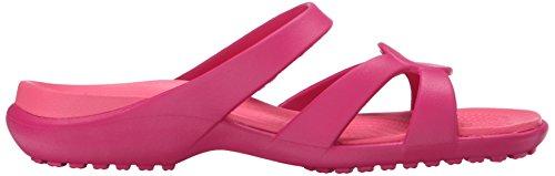 Crocs - Meleen Twist, Ciabatte Donna Raspberry/Coral