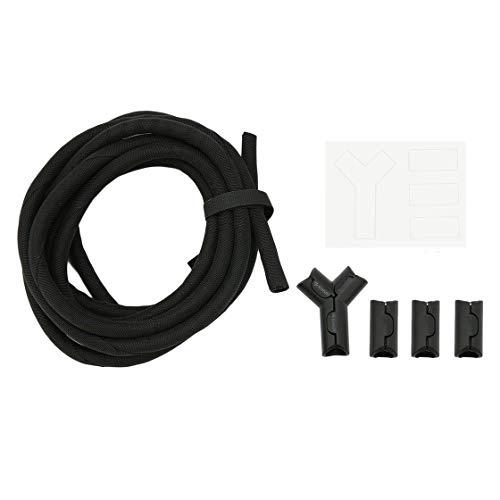 Flexibler Kabel-Organisator 3M / 10FT Hitzebeständiges Kabel-Rohr-verzögerndes Gehäuse-Design für Wohn- oder Arbeitsraum