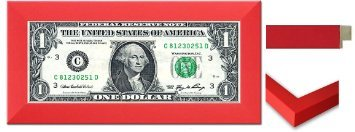 Country Art House Business First Dollar Rahmen rot