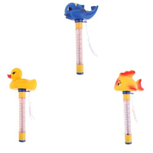 SM SunniMix 3Pcs Floating Pool Thermometer Große Größe Mit String Für Pools, Whirlpool