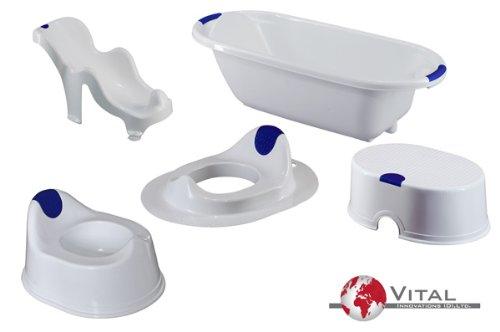 Vital Innovations - 06055-01 - Set Hygiène - 5 Pièces - Blanc / Bleu