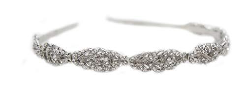Unbekannt Details zu Tiara Haarschmuck Silber Gold Rosegold Diadem Krone Perlen Strass Haarreifen Braut Hochzeit Reifen (Roségold) (Rot Gold Und Tiara)