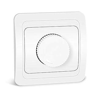 Kefflum LED-Drehdimmer Helligkeitsregler Dimmer für LED Lampen und alle Halogen-Lampen (Kurve)
