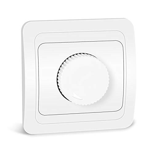 Kefflum Atenuador del Regulador de Brillo del Dimmer Rotativo LED para Lámparas LED y Todas las Lámparas Halógenas (curva)