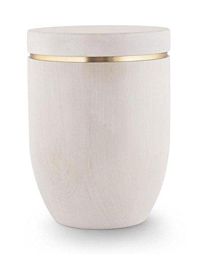 Die Ashton Holz Verbrennung Asche Urne–Erwachsene Größe–(Flacher Deckel & Weiß Birke) (Spindeln Birke)