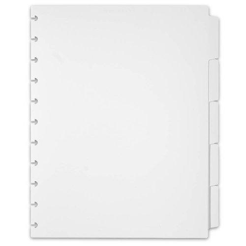 Levenger circa Kunststoff 5Tab Teiler, weiß Buchstabe (ads3720WH Ltr) - Weiß Tab 5 Teiler