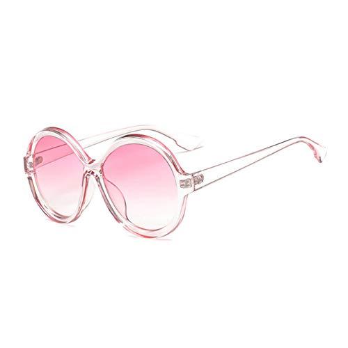 ZRTYJ Sonnenbrille Übergroße Sonnenbrille Frauen Vintage Runde Farbverlauf Shades Sonnenbrille Damen Markendesigner Sonnenbrille Für Frau