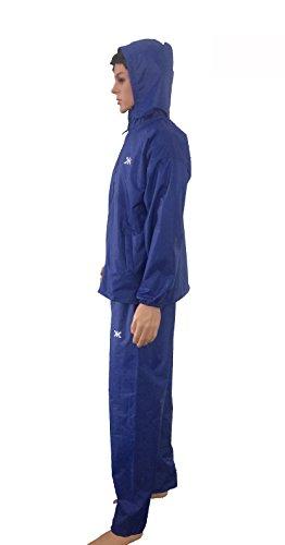 Killer Royal Blue Prc Rain Suit For Men With Hood And Front Zip (kgt-208)