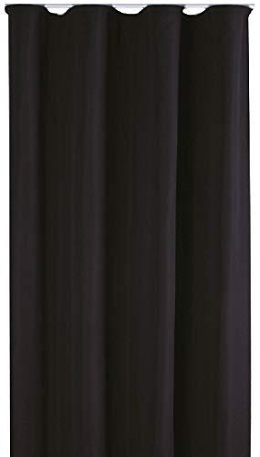Bestlivings Blickdichte Gardine mit Kräuselband (140x245 cm/Schwarz), in vielen Variationen