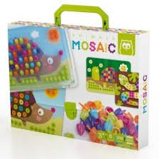 EUREKAKIDS Animals Mosaic Pegs–Set of Spikes