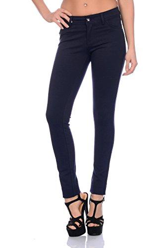 Modische Damen Jeggings Leggings Hüfthose Stretch Slimfit , Sehr bequem (S / 36, Dunkelblau)