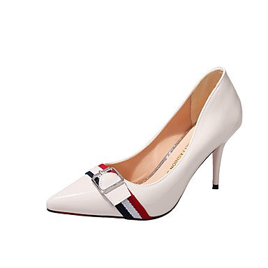 RTRY Donna Comfort Tacchi Ol Stile Tutto Corrispondono A Molla Calo Delle Parti &Amp; Abito Da Sera Fibbia Stiletto Heel Giallo Bianco Nero 1A-1 3/4In US7.5 / EU38 / UK5.5 / CN38