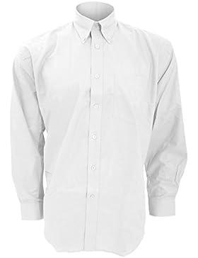 Kustom Kit - Camisa de manga larga para trabajar Modelo Oxford hombre caballero