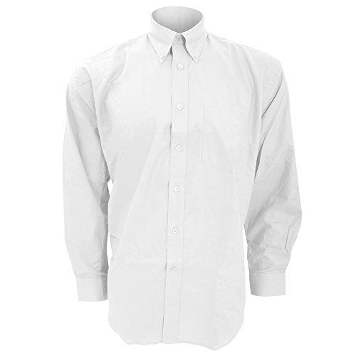 Kustom Kit Workwear Oxford Herren Hemd, Langarm Marineblau