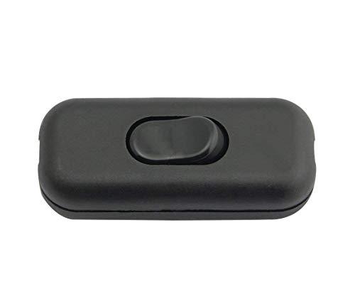 YIDAINLINE Zwischenschalter / [1 Pack] SFTlite Schwarzer Inline Schalter Verwenden Sie Inline 2 oder 3 Core Schnur zwischenschalter, Leuchtenschalter Light/Lampe Schalter [Energieklasse A+]