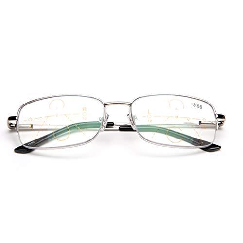 RXBFD Photochrom Multifokale Dioptrien-Gleitsichtbrille Lentes, Schnelle Verfärbung im Freien Nah- und Fern-Dual-Use-Reader, für Männer und Frauen