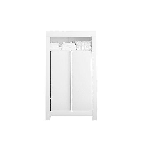 Preisvergleich Produktbild Felix Babyzimmer Wickelkommode Babybett Kleiderschrank Weiß oder Akaziengrau (Weiß, 2-türiger Kleiderschrank)