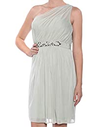 dcf97d1ad4e Adrianna Papell Womens Green Sleeveless Asymetrical Neckline Above The Knee  Sheath Formal Dress Size  10