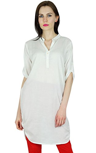 bimba-women-chic-style-top-tunic-boho-bohemian-placket-blouse-kurti-kurta