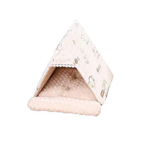 HUIFANG Triangle Pet Nest Katzenstreu Hund Haus Warm Thick Cat Schlafsack Kleine Hund Heimtierbedarf A