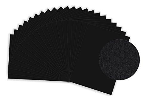 Preisvergleich Produktbild SUMICO Tonzeichenpapier 130g/qm, 50x70 cm, 10 Bogen, schwarz, Tonpapier zum Malen und Basteln, z.B. von Osterschmuck, für Glückwunschkarten, u.v.m.