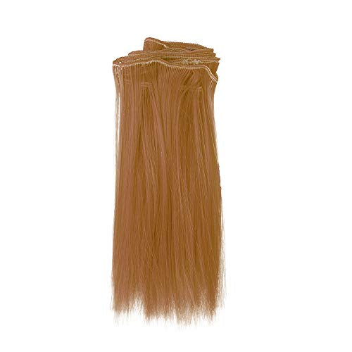 Malloom-Bekleidung 1 STÜCK Mode 15X106 cm Großhandel Gerade Haar Haar Für DIY / BJD Perücke Puppe