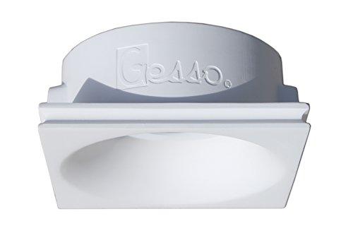 onlineplaster 806CH foco de techo empotrable redondo yeso GU10blanco natural 12x 5,...