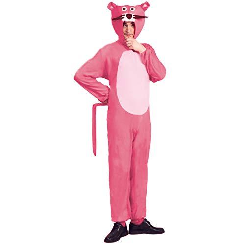 Amakando Déguisement La Panthère Rose / Rose en Taille M (FR 48/50) / Costume de Chat Original pour Adulte / Idéal pour Carnaval & Enterrement de Vie de garçon