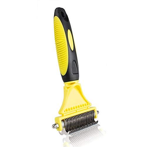 Tianzhiyi Haustierausrüstung Pet Dematting Comb Undercoat Harkenpflege Stripping Tool Für Hunde Katzen -