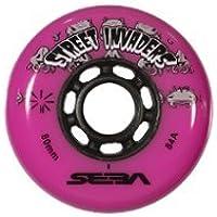 Seba Street Invader - Ruedas de Patinaje en Línea (4 Unidades), Color Rosa, 76 mm